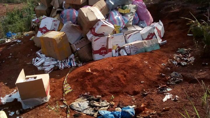 Man: La Douane met le feu à 3.474 kg de produits prohibés saisis