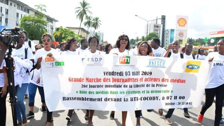 MEDIA : célébration de la 26e journée mondiale de la liberté de la presse, RFS a enregistré moins d'atteinte à la liberté de presse en  côte d'Ivoire.