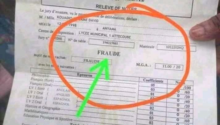 Education nationale : Baccalauréat 2019, 106.000 copies conformes rejetées de la liste des admis(e)s