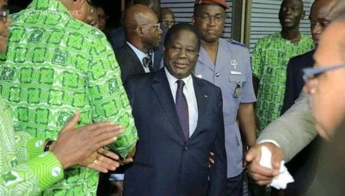 """Présidentielle 2020: Après le dépôt de sa candidature à la Cei, Bédié """" Cela nous permettra de construire une Côte d'Ivoire réconciliée"""""""