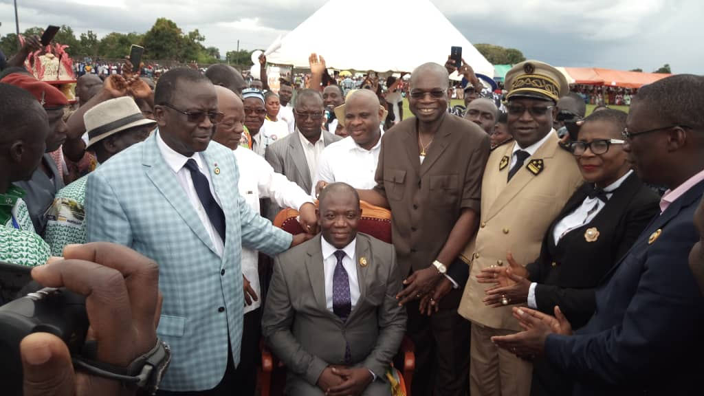 Sangouiné : investiture du nouveau maire, Ahoussou Jeannot plaide pour une union sacrée autour du RHDP