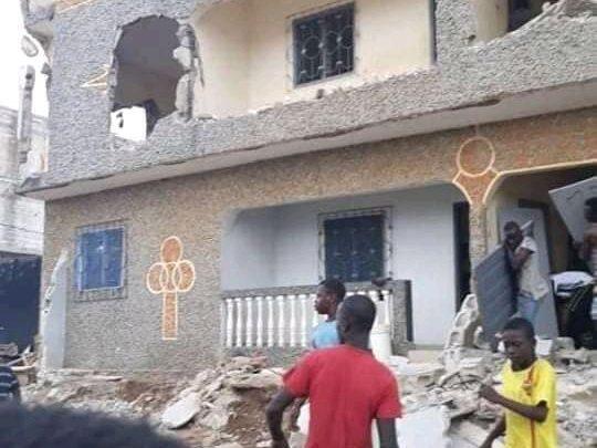 Côte d'Ivoire, Abidjan : Yopougon des immeubles en démolitions en pleine rentrée scolaire