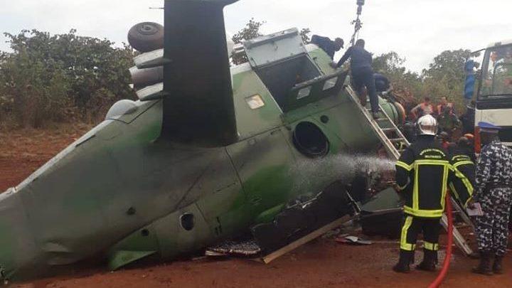 Visite de Ouattara à Katiola : Crash de hélico montre  que tout n'est que vanité sur terre !