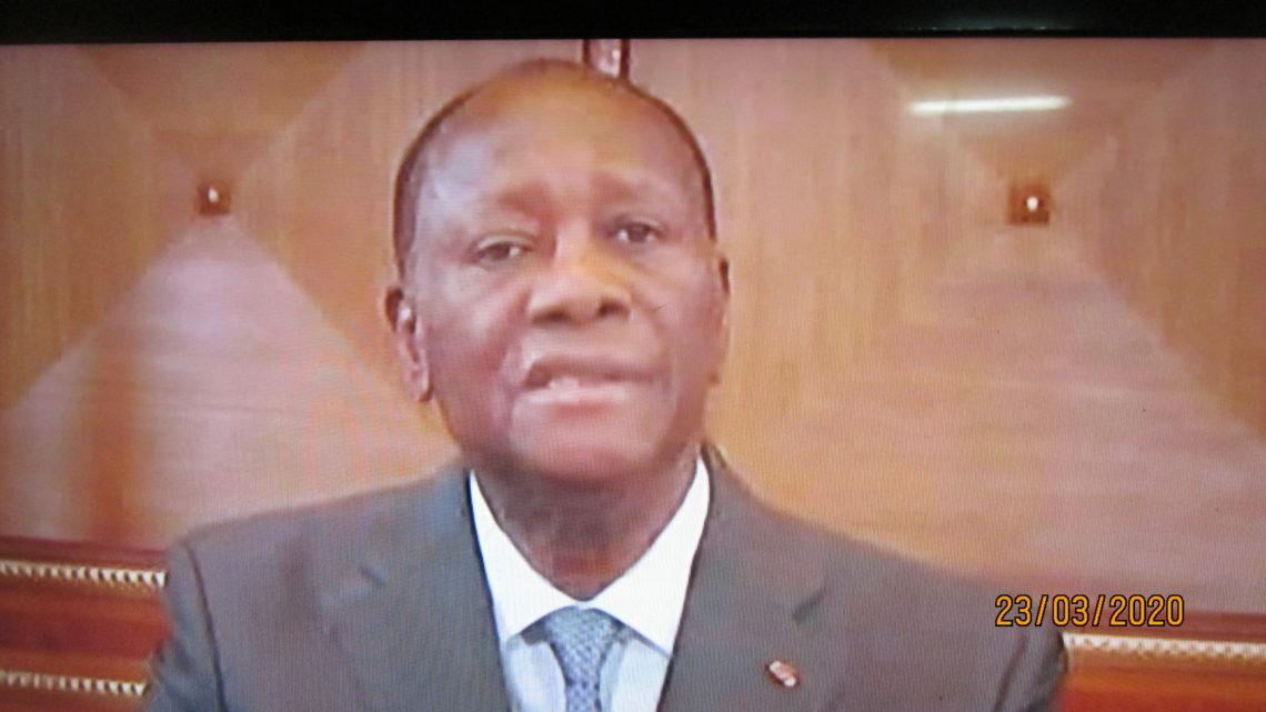 Côte d'Ivoire ( Covid 19) :Le ¨Président Ouattara déclare l'état d'urgence