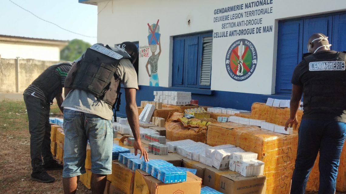 Tonkpi:  Trafic de stupéfiants  La cellule anti drogue  saisi 1,317 de tonnes de produit