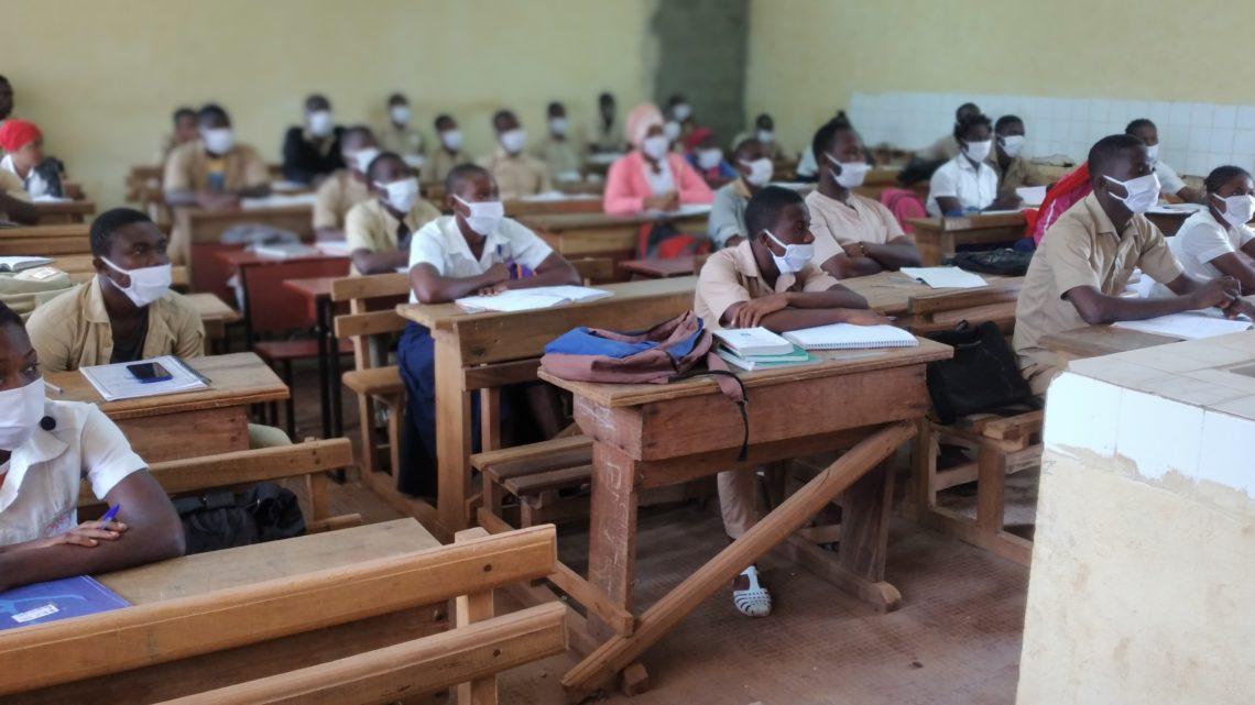 Man (Réprise des cours): Elèves et enseignants présents , les mesures barrières suivies à 70%