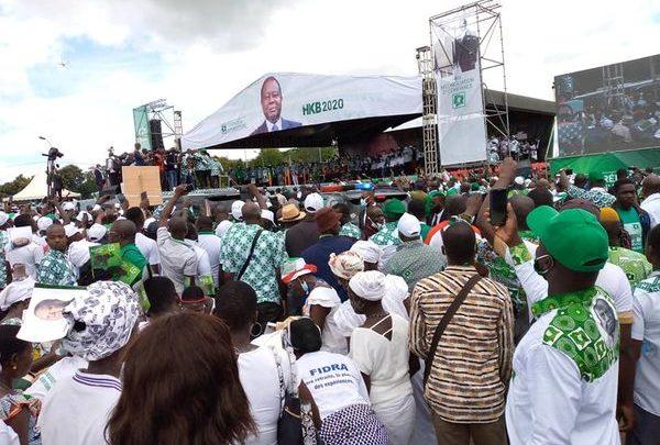 Investiture de Bédié : Démonstration de force du Pdci à Yamoussoukro.