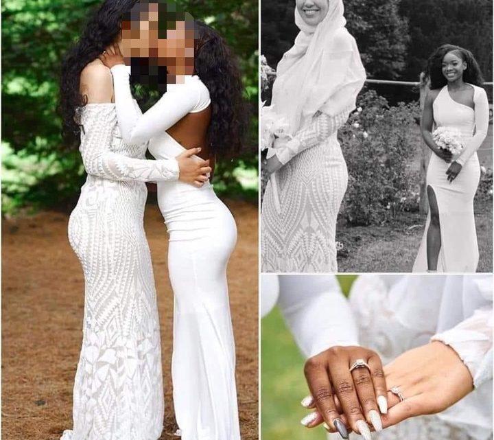 Vie conjugale: Voici le mariage entre une musulmane et une chrétienne qui choque la toile ce jour
